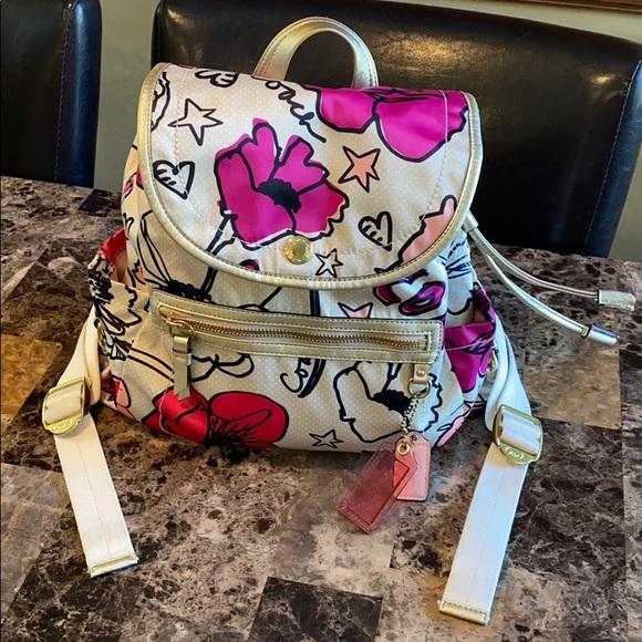 Coach Handbags - Coach Kyra Poppy Backpack